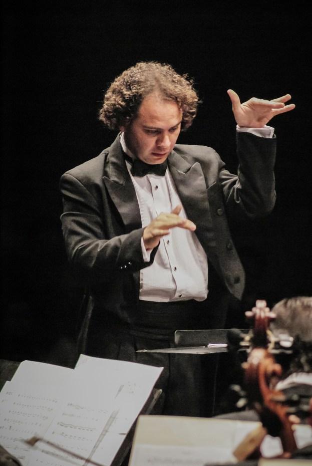 On new music being premiered. Michoacan Symphony Orchestra. Photo, Ramon Merino