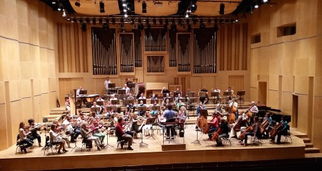 2014, At rehearsal with the Opole Philharmonic Orchestra, Poland