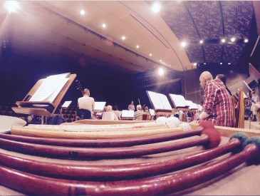 2015, at rehearsal in Poland with the Kalisz Philharmonic Orchestra. Music by Revueltas
