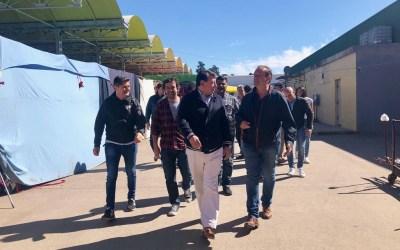 El equipo de Juan Manuel Urtubey de la Provincia de Bs.As., en el Mercado Central.