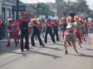 Week 1 of Mardi Gras 2016, Uptown, New Orleans, LA. Carrolton, King Arthur, Allah Parades on Magazine St. Mardi Gras 2016. New Orleans, LA
