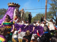 Krewe of Mid-City and Thoth down St. CHarles Ave. Mardi Gras 2016. New Orleans, LA