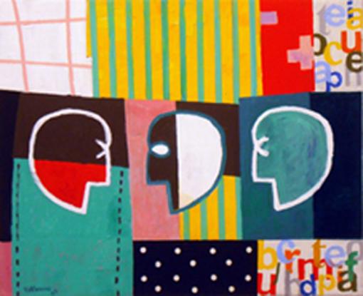 Conversación II. Acrílico sobre lienzo._81x100 cm. 2009 - copia