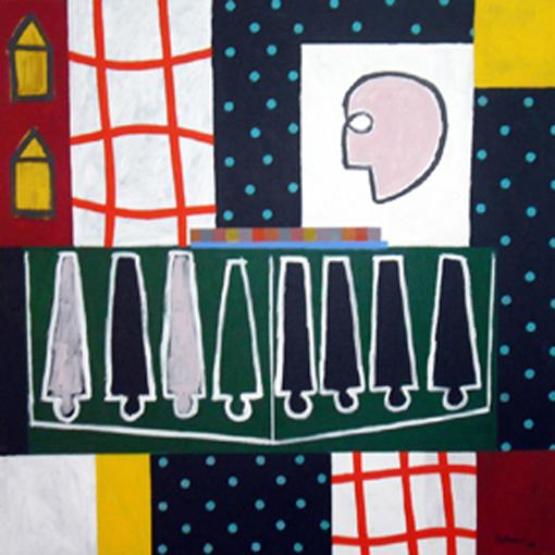 Cuando digo hombre II. Acrílico sobre lienzo. 120x120 cm. 2008
