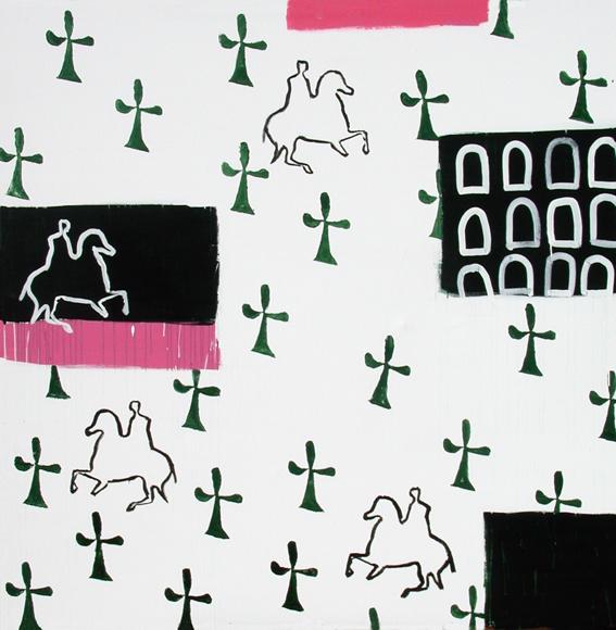De los laberintos I- 200 x 200 cm-a-2001
