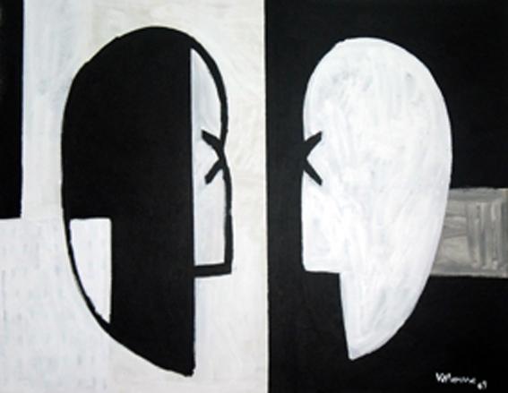 El espejo. Acrílico sobre lienzo. 81x100cm cm. 2009.