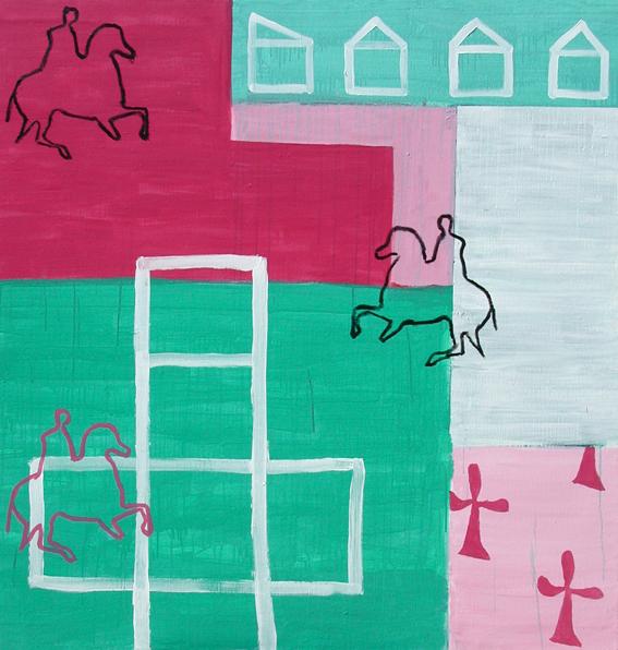 El viaje II._Acrílico sobre lienzo_150 x 150cm2001