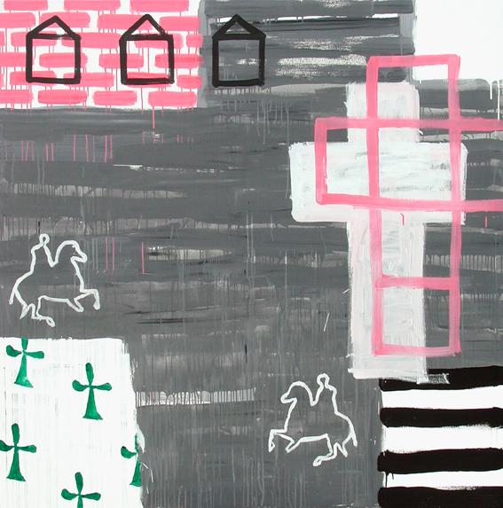 En el camino I_Acrílico sobre lienzo_200x200cm_2001_Museo de arte contemporáneo de Madrid