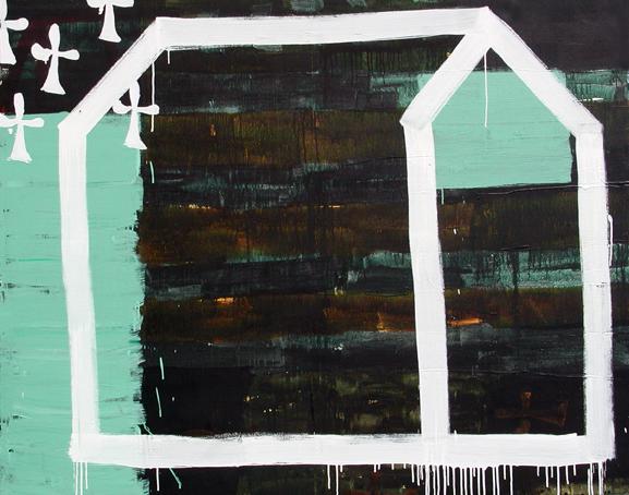 La casa de Asterión I_Acrílico sobre lienzo_162x200 cm_2001