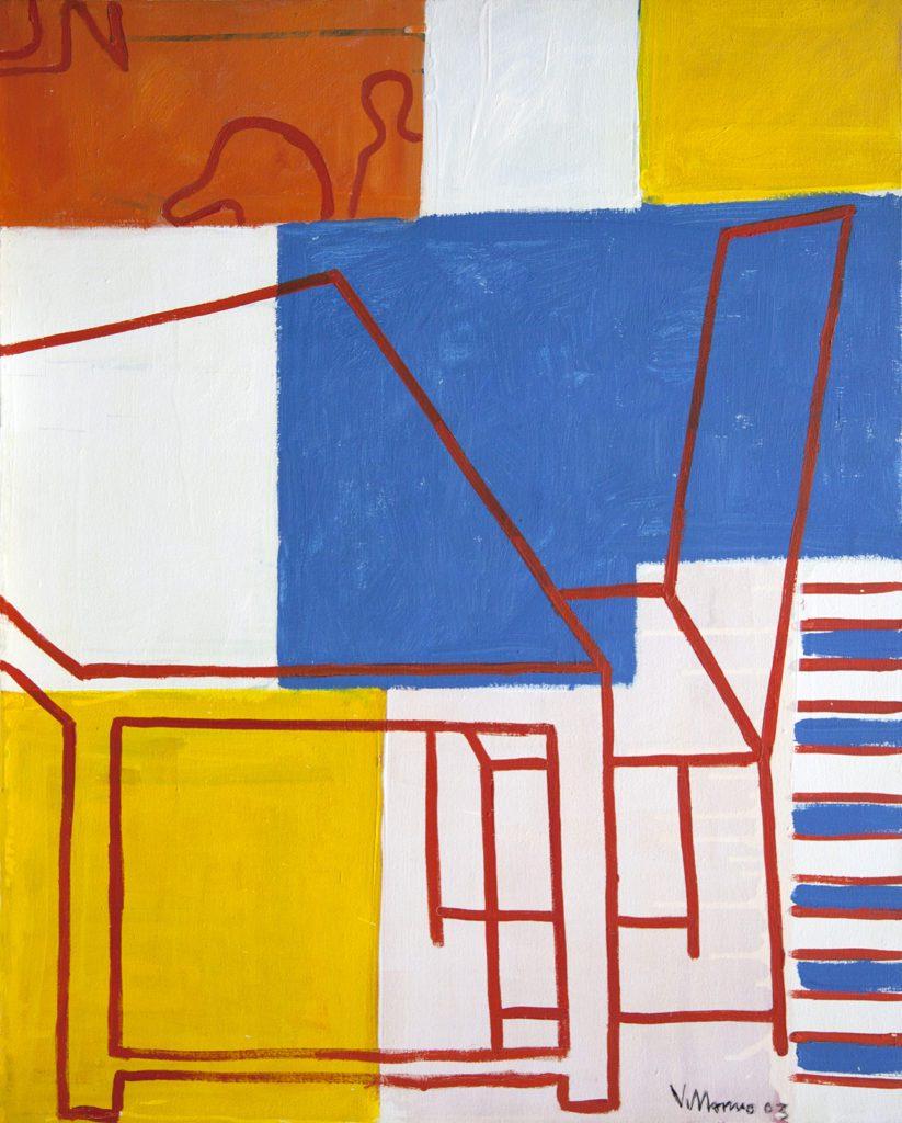 """Miguel Villarino """"el sueño del caballero""""(2003) óleo / tela 81 x 65 cm."""
