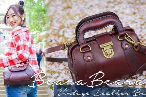 英國手工真皮包BearaBeara 復古醫生包質感超棒的 旅行日常都好搭容量也大