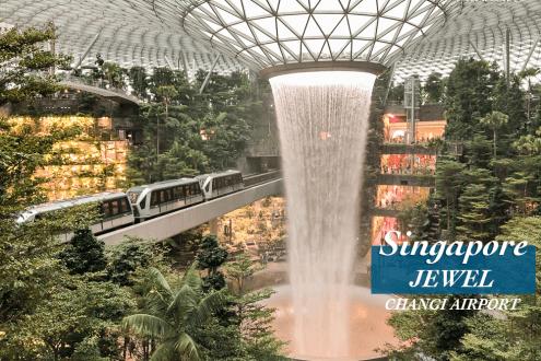 新加坡機場星耀樟宜Jewel美食購物設施門票整理 最美室內溫室世界最高室內瀑布