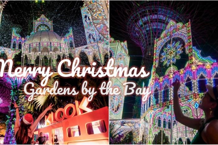 新加坡》濱海灣花園2019聖誕慶典 超級樹燈光秀最佳拍攝點 世界最高室內雨林雲霧林花穹冷室
