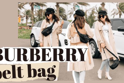 解放雙手無敵好用又好搭的BURBERRY腰包|BURBERRY Medium Sonny belt bag REVIEW