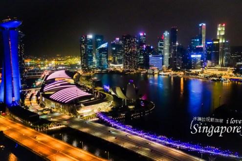 【新加坡夜景燈光秀全攻略】金沙酒店燈光秀 摩天觀景輪 濱海灣花園 克拉碼頭