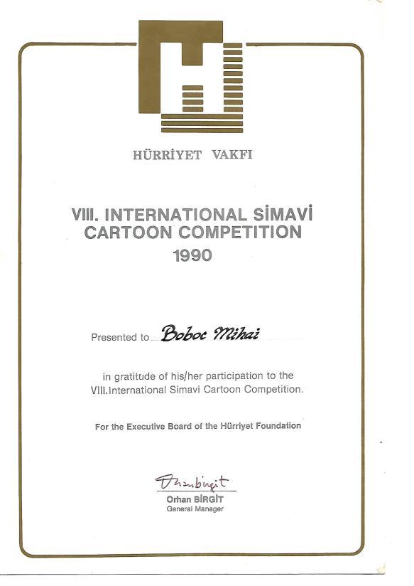 Prima Participare 1990 - SIMAVI International - Turkey