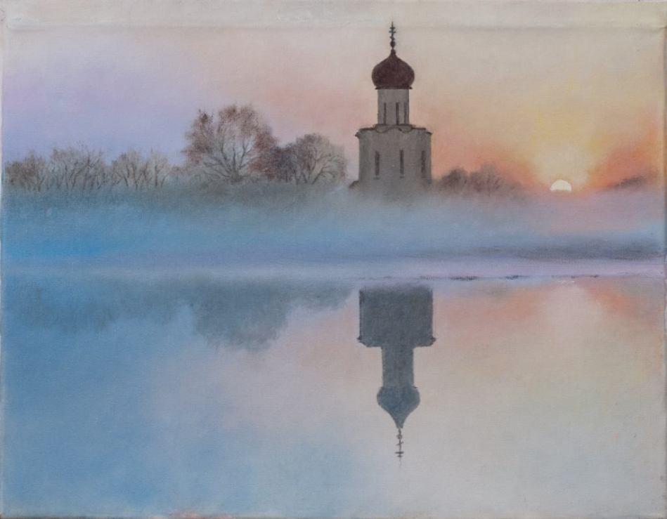 Храм в Боголюбово. Михаил Симонов.