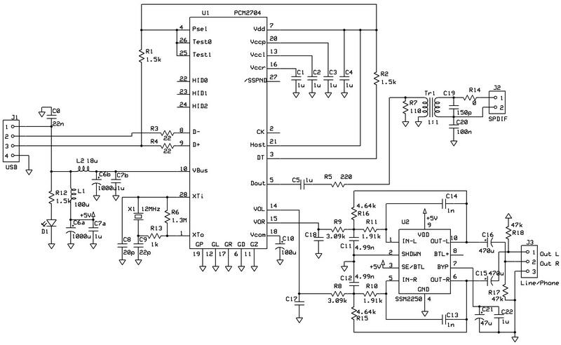 diy usb dac schematic