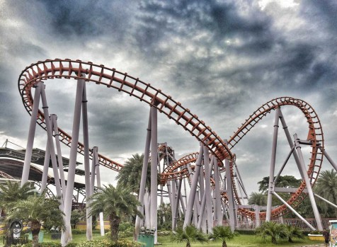 The parks roller coaster