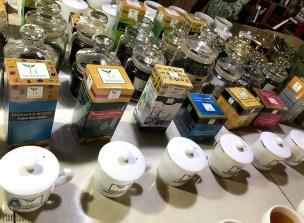 Teas on display