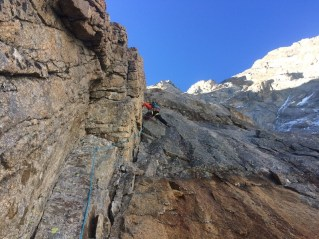 Dihedral climb on Walker Spur