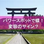 パワースポット「熊野本宮大社」で黒い蝶!スピリチュアル的なメッセージとは?