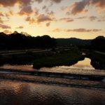 賀茂川の夕焼けを見ながら感じた愛♡ 静寂の中でハートを感じて