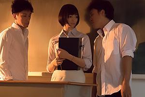 【西田カリナ】 清楚で可愛い美乳美人の新婚女教師を輪姦レイプ!変態生徒がアナルを拡張して指を入れ弄び尻穴処女にチンコ挿入中出し