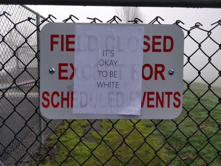 White Sign