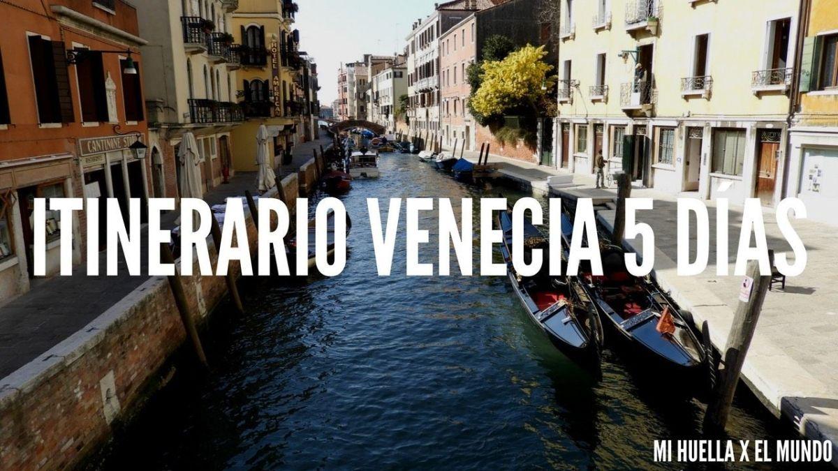 ITINERARIO POR VENECIA 5 DÍAS