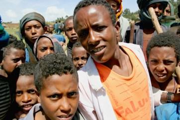 Boys at Zefie village, Amhara.