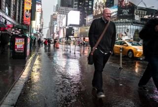 Why didn't I take a jacket?! Rainy Times Square NYC.
