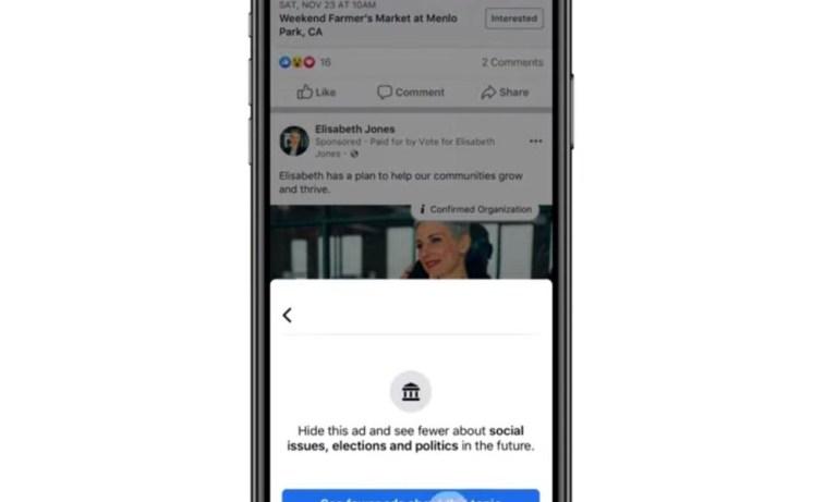Как перестать видеть политическую рекламу на Facebook