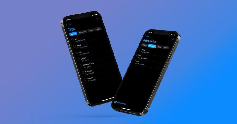 Напоминания для iPhone с тегами: как использовать, систематизировать и искать