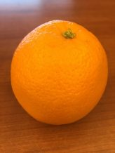 What a perfect looking orange!