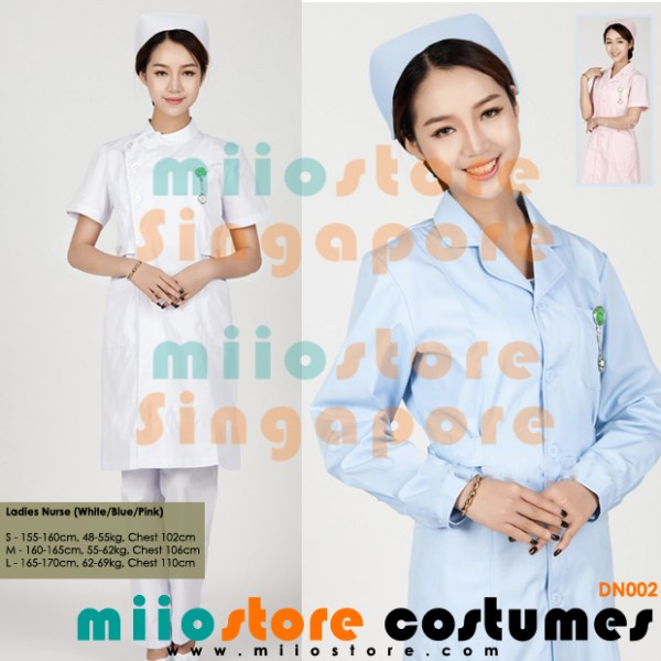 DN002 - Nurse's Costumes - miiostore Costumes Singapore