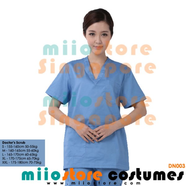 Doctor's Scrubs Costumes - Surgery Scrubs - miiostore Costumes Singapore - DN003