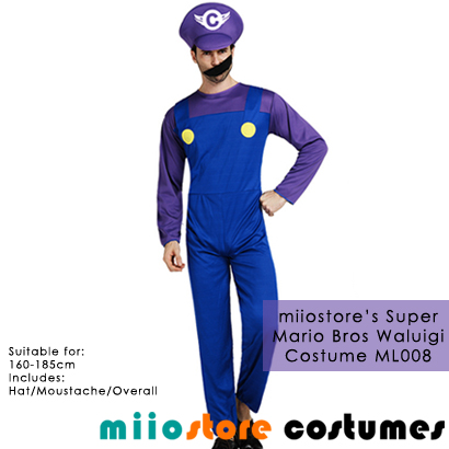 Waluigi Mario Costumes Singapore - miiostore Costumes Singapore - ML008