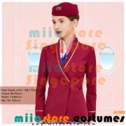miiostore's Red Stewardess Emirates Inspired Costumes - miiostore Costumes Singapore - AC002