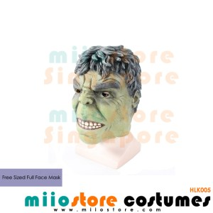 Full Faced Hulk Masks - miiostore Costumes Singapore - HLK005