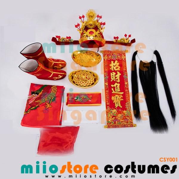 Rent Cai Shen Ye 财神爷 Wealth God Costumes Singapore - CSY001