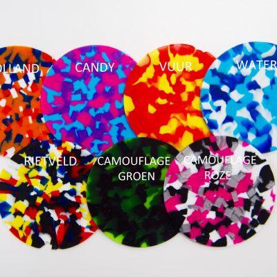 Confettie kleuren