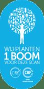 Wij planten 1 boom voor deze scan