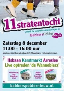 Flyer voor de 11 straten tocht in Vlaarding op de 2e Babberspolder Nieuw Dag