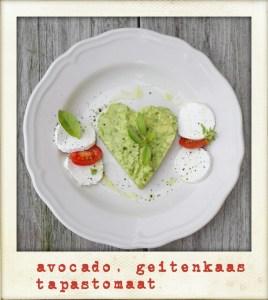 avocado | geitenkaas | tomaat