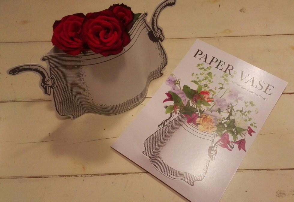 paper vase by Marie Michielssen 19th century inspired design