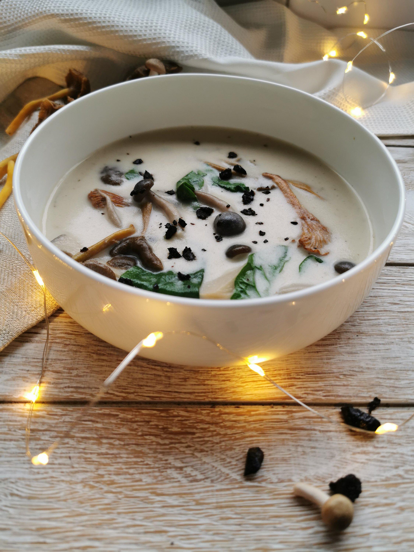 paddenstoel-spinaziesoep