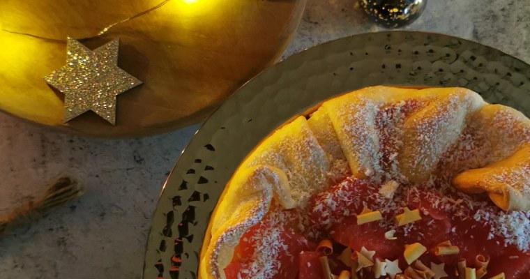 feesttaart met bubbels en pompelmoes