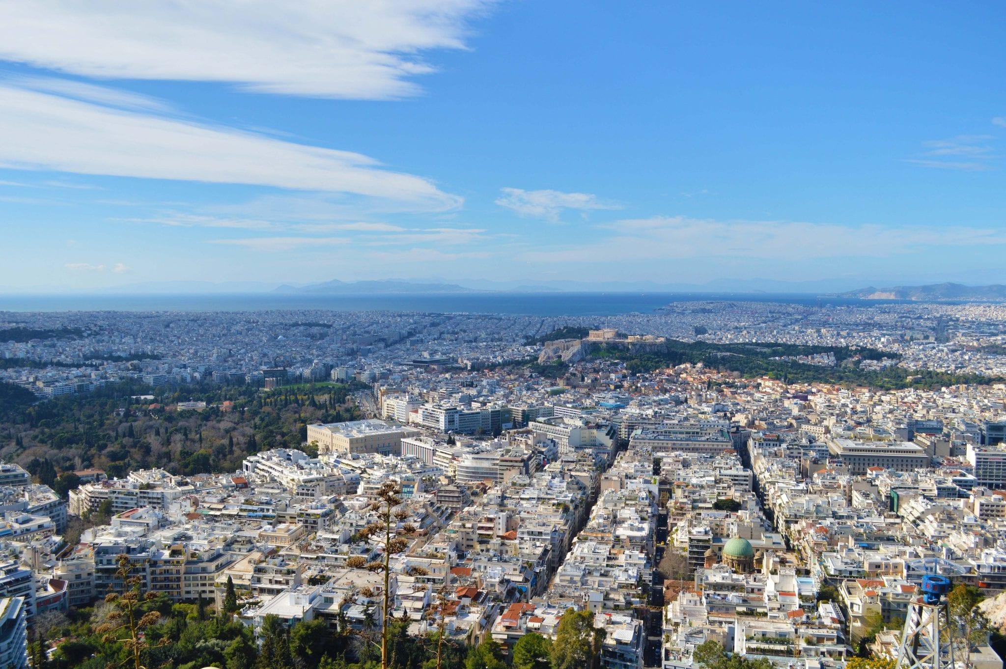 Uitzicht vanaf Lycabettus heuvel