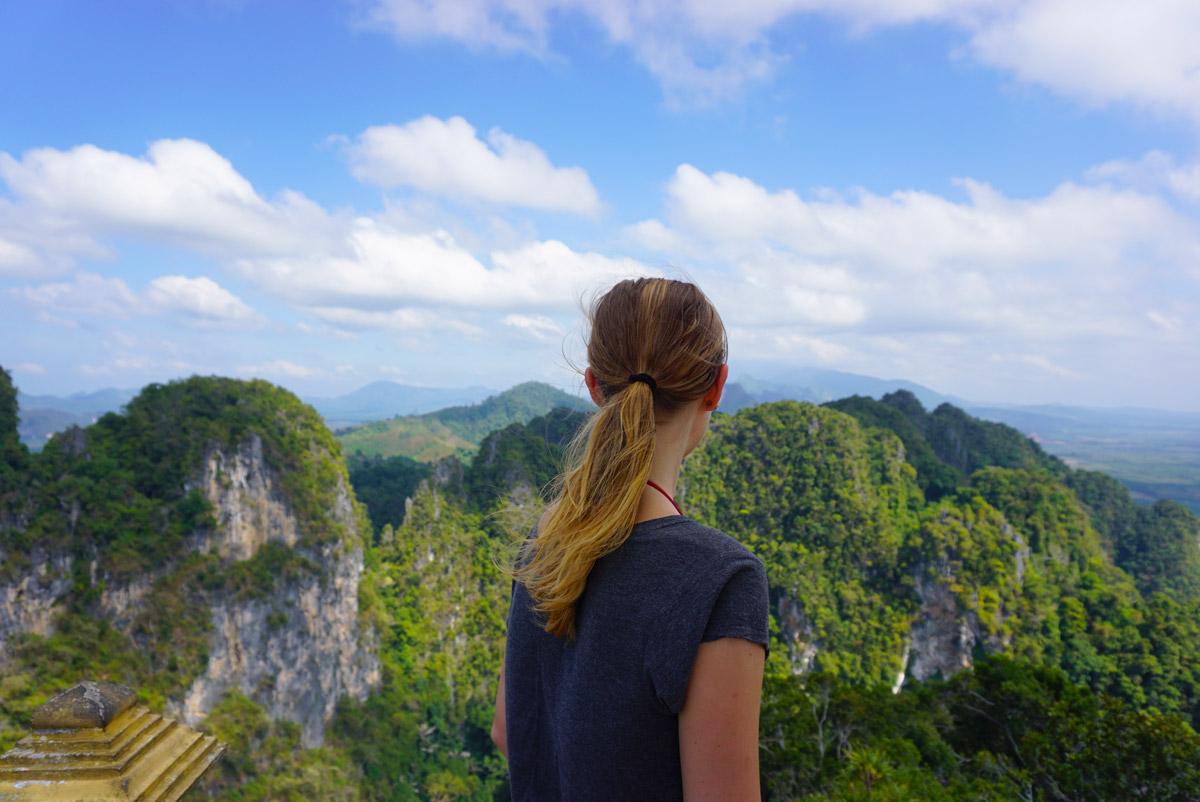 uitzicht Tiger cave tempel krabi